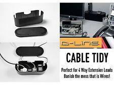 D-line 4 Way Pequeña Negra De Extensión de alambre de cable ordenado sistema de gestión Tv Av Dvd