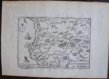 CARTE GOUVERNEMENT DE BOULOGNE . Par TASSIN. Carte originale de 1633.  Dimension