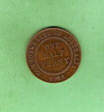 1928  AUSTRALIAN BRONZE HALFPENNY  COIN