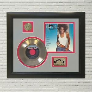 Whitney Houston I Want To Dance Framed Picture Sleeve Gold 45 Record Display