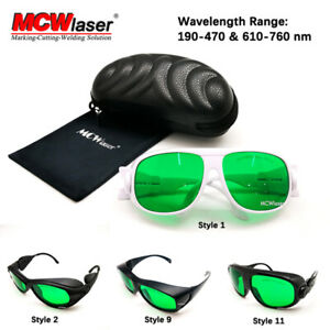 MCWlaser Laser Glasses Safety Goggles 190-450 & 800-2000nm CE Typical EP-13