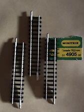 4x Minitrix 4905 gerades Gleis 76 3mm