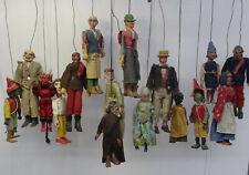 Antike Theater Marionetten Theaterpuppe Handpuppe Puppentheater Puppe 16 Stück