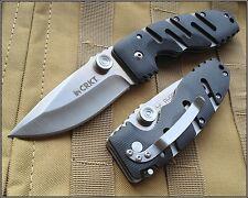 8 INCH CRKT RYAN SEVEN TACTICAL FOLDING KNIFE RAZOR SHARP BLADE WITH POCKET CLIP