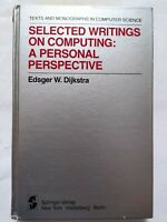 BOOK SELECTED WRITINGS ON COMPUTING A PERSONAL PERSPECTIVE DIJKSTRA 0387906525