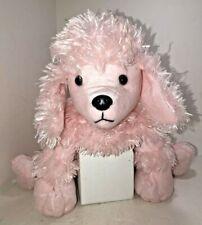 "Pink Poodle Dog Puppy Plush Stuffed Animal Toy 19"" x 11"" 50s Fabulousness"