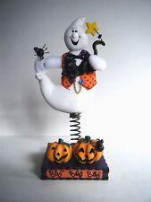 """Avon Halloween Bobble Ghost Black Cat Pumpkin Spider Figurine 9"""" New In Box"""