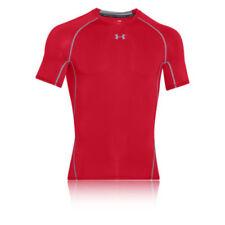 Abbiglimento sportivo da uomo rossi di compressione alla lunghezza della manica manica corta