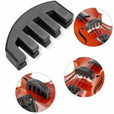 Black Ultra Heavy Rubber Practice Mute Silencer for 4/4 Violin Vioin Accessories