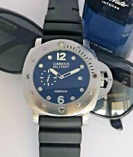 Kimsdun by Parnis 4xl marina caballeros-reloj 47mm militare silicona fecha hebilla
