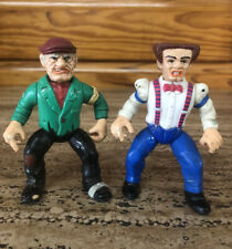 Vintage 1990's Playmates Toys Dick Tracy Flattop & The Tramp Action Figure Lot