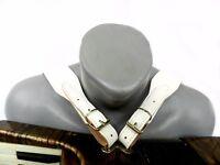 Bretelles de accordéon, courroies en cuir, accordion straps, blanc