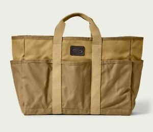 Filson Workshop Utility Tote - NEW - 20117335 Dark Tan Khaki Bag Carry All Waxed