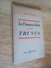 La Finance juive et les trusts Banquiers Rothschild COSTON 1942
