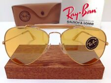 70s B&L RAY BAN USA FULL MIRROR AMBERMATIC CHANGEABLES SHOOTING AVIATOR VTG CASE