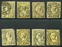 GERMANY STATES SAXONY SCOTT# 12 MICHEL# 11 USED LOT OF 8 AS SHOWN