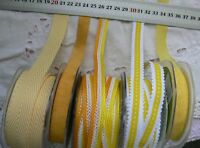 YELLOW & WHITE Mix Tones 10-20mm Wide 2 & 3 Metres - 5 Design Style Choice