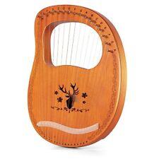 Leierharfe Topnaca Lyre Harfe 16 Metallsaiten Mahagoni Sperrholz unvollständig