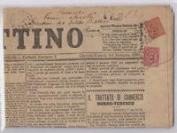REGNO 1863-65 2 CENTESIMI MISTA UMBERTO 10 CENTESIMI DUE RE SU GIORNALE