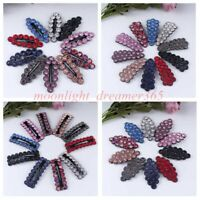 Korean Women Bling Crystal Snap Hair Clips Barrette Bobby Hairpin Headwear Acces