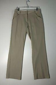 Nike Womens Size 6 Golf Pants Dri Fit UV Khaki Stretch Straight Leg