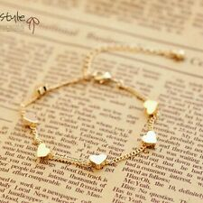 #3053 Gold Plated Turkish Jewelry Bracelets Simple Fashion Charm Heart Design