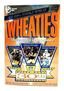 Wheaties Super Bowl 30th Anniversary 1967-1997 Collector's Edition Unopened NOS