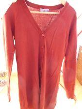 rot langärmelig Damen Pullover Jacke Cardigan, Gr. S