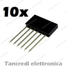 10x Connettori Strip Line Femmina 6 poli 10x1 - Header Socket Female arduino