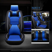 Luxury Deluxe Car Seats Cover W/ Headests+Cushions Universal full Sets BLUE