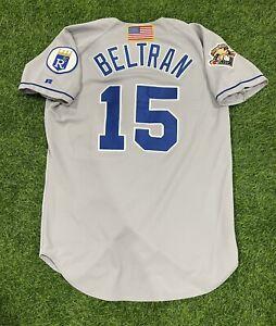 Carlos Beltran Kansas City Royals Game Used Worn Jersey 2001