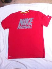 Mens NIKE Football DRI-FIT Red/Grey Dri-fit Shirt Size L Large  NWOT