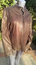 Scully Leather 114 Brown Rugged Motorcycle Jacket (L)