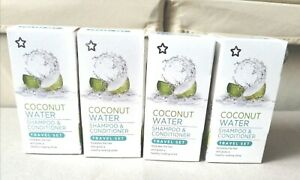 Wholesale X 4 sets Superdrug Coconut Water Shampoo & Conditioner Travel 50ml new