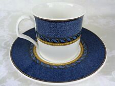 Mikasa Florentine Blue Pattern No DX005 Flat Cup And Saucer Set