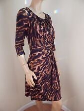 knit dress, brown leopard, excellent condition, medium. los angeles brand