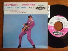 RARE EP JOHNNY HALLYDAY VOL 2 SOUVENIRS SOUVENIRS GUILDE DU DISQUE + LANGUETTE