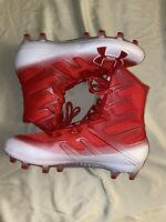 Under Armour Highlight MC Football Cleats  Red/White 3000177 MSRP$130 Size 8.5