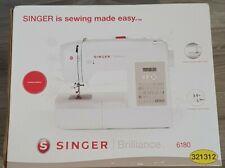 Singer Brilliance 6180 Sewing Machine wi 80 Pre Loaded Stitches & 8 Presser Feet