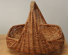 Natural Wicker Picnic Shopping Basket With Handle Handmade