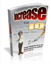 increase your IQ ebook with bonus ebooks PDF free shipping