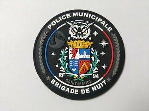 Ecusson Police Municipale en PVC 3D