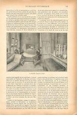 Chambre Auguste Comte Paris /Céramique Moderne Coquetier Porcelaine GRAVURE 1902