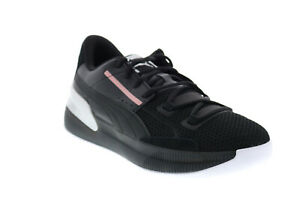 Puma Clyde Hardwood Metallic 19404401 Mens Black Leather Athletic Basketball