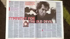 ROLLING STONES 'old devil Keith' 1995 ARTICLE / clipping