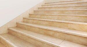 5 cm Holz Treppen Anti Rutsch Schutz Streifen +klar gekörnt+ mit runden Enden