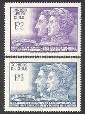 Chile 1968 San Martin/O'Higgins/Soldiers/Military/Battles/People 2v set (n37897)
