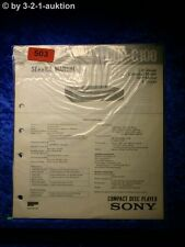 Sony Service Manual CDP C100 CD Player (#0503)
