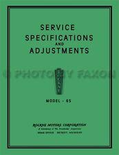 1932 Rockne Model 65 Shop Manual 32 Studebaker Repair Service Specifications