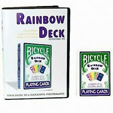 CARTE DA GIOCO BICYCLE RAINBOW con DVD istruzioni in inglese